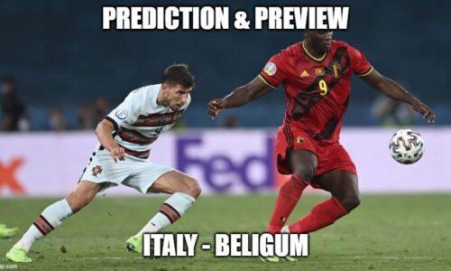 Prediction : Italy – Belgium
